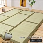 純国産/日本製 い草カーペット い草マット 『DX和座』 グリーン 約260×350cm 裏:不織布張り コンパクト収納可