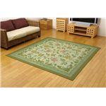 三重織り い草カーペット 『DXエンティス』 グリーン 江戸間6畳 約261×352cm 裏:不織布 抗菌防臭効果