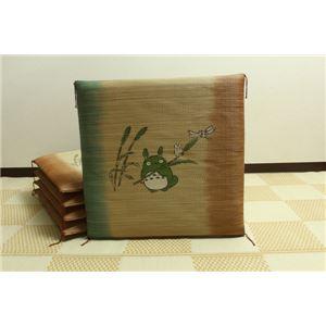 純国産/日本製 捺染返し い草座布団 『のはらトトロ 5枚組』 約55×55cm×5P - 拡大画像