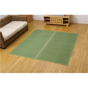 い草花ござ カーペット 『クルー』 グリーン 本間6畳(約286.5×382cm) 抗菌、防臭効果 - 拡大画像