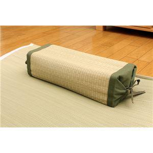 高さが調節できる い草枕 『高さが変わる枕 い草 箱付』 40×15cm(中材:い草チップ) - 拡大画像
