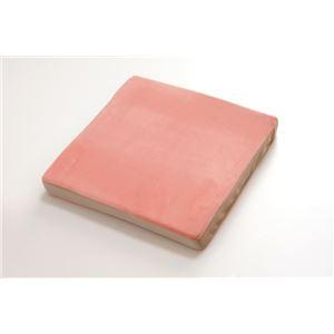 クッション 低反発 マイクロファイバー 無地 『ルナ シート』 ピンク 約40×40cm(中=低反発ウレタン40mm) - 拡大画像