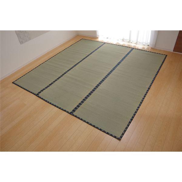 純国産 い草 上敷き カーペット 糸引織 江戸間6畳(約261×352cm) 熊本県八代産イ草使用