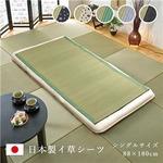 純国産 い草のシーツ(寝ござ) アイボリー シングル88×180cm(熊本県八代産イ草使用)