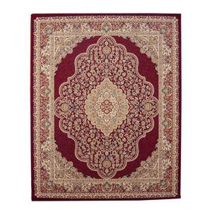 トルコ製 ウィルトン織り カーペット 絨毯 ホットカーペット対応 『ベルミラ RUG』 ワイン 約240×240cm
