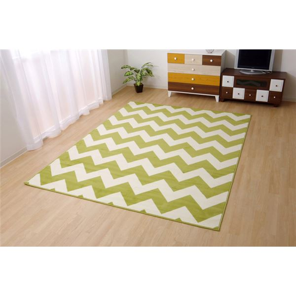 ベルギー製 輸入ラグマット ウィルトン織りカーペット 幾何柄 『イカット』 約200×250cm