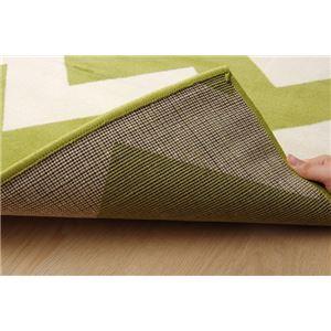 ベルギー製 輸入ラグマット ウィルトン織りカーペット 幾何柄 『イカット』 約200×250cm f06