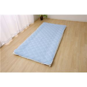 敷きパッド シングル洗える 冷感 涼感 接触冷感 消臭 部屋干し 約100×205cm - 拡大画像