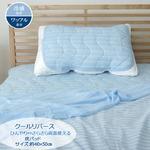 枕パッド 洗える 冷感 涼感 接触冷感 『クールリバース』 約40×50cm 吸水 速乾 リバーシブル