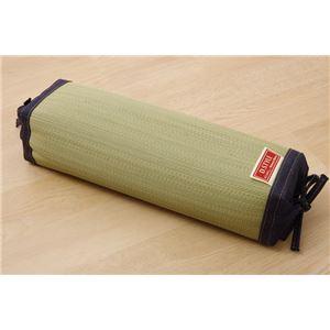 枕 まくら い草枕 消臭 ピロー 国産 デニム 高さ調整 『マイル 角枕ロング 』 約40×15cm 中材:ポリエチレンパイプ - 拡大画像
