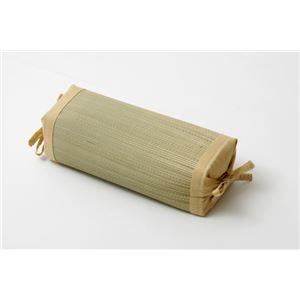 枕 まくら い草枕 消臭 ピロー 国産 無地 高さ調整 『モデル 角枕』 ベージュ 約30×15cm - 拡大画像