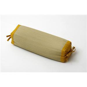 枕 まくら い草枕 消臭 ピロー 国産 無地 高さ調整 『スリムロング 角枕』 イエロー 約40×15cm - 拡大画像