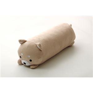 抱きまくら まくら 枕 クッション 動物 犬 いぬ イヌ 『ふわもち アニマル 抱き枕 柴犬』 ベージュ 約20×57cm - 拡大画像