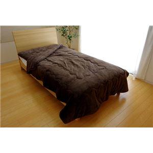 毛布 ダブル 洗える 寝具 抗菌 消臭 無地 旭化成 トップサーモ 2枚合わせ毛布 『17フランIT』 ブラウン 約180×200cm - 拡大画像