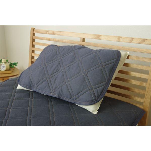 あなたのベッドを涼しいベッドに変える枕パッド『枕パッド 洗える 接触冷感 デニム調 『デニム 枕パッド』』