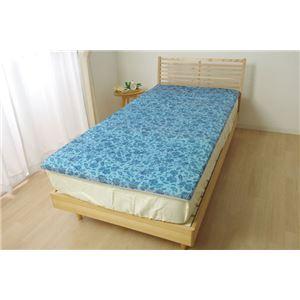 冷感 敷きパッド/寝具 【プリント 約120cm×70cm】 セミダブル 洗える 低反発 接触冷感 『ツインクール 敷きパッド』 〔寝室〕 - 拡大画像