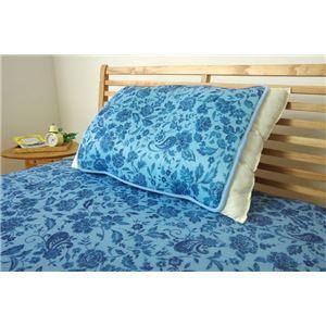 冷感 枕パッド/寝具 【プリント 約40cm×50cm】 洗える 低反発 接触冷感 『ツインクール 枕パッド』 〔寝室〕 - 拡大画像