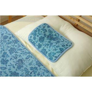 冷感 置き枕/寝具 【プリント 約20cm×30cm】 洗える 低反発 接触冷感 『ツインクール 置き枕』 〔寝室〕 - 拡大画像