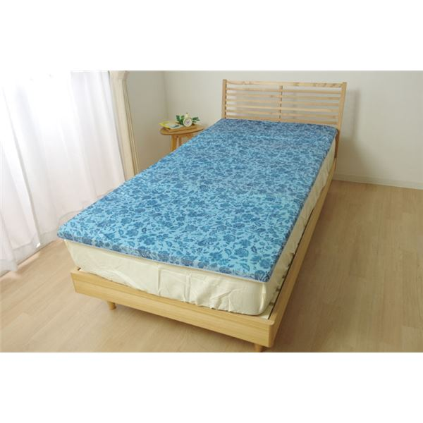 ごろ寝マット/寝具 【プリント 約65cm×160cm】 低反発 洗える 接触冷感 〔寝室〕