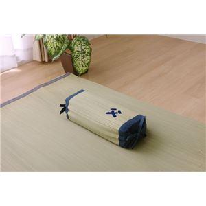 枕 まくら い草枕 消臭 ピロー 国産 『おとこの枕 角枕』 約30×15cm 中材:パイプ - 拡大画像