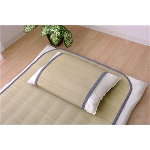 国産無染土い草使用 『デニム素肌草 枕パッド』 約44×66cm - 拡大画像
