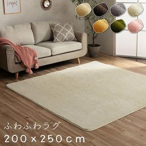 ラグ カーペット 3畳 無地 フィラメント 『フィリップ』 オレンジ 約200×250cm ホットカーペット対応