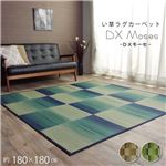 い草ラグ おしゃれ コンパクト シンプル カーペット 『DXモーセ』 グリーン 約180×180cm