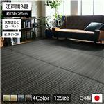 洗える PPカーペット アウトドア ペット ブラウン 江戸間3畳(約174×261cm)
