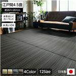 洗える PPカーペット アウトドア ペット ブラウン 江戸間4.5畳(約261×261cm)