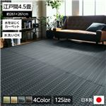 洗える PPカーペット アウトドア ペット ネイビー 江戸間4.5畳(約261×261cm)