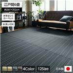 洗える PPカーペット アウトドア ペット ネイビー 江戸間6畳(約261×352cm)