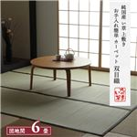 純国産 い草 上敷き お手入れ簡単 カーペット 汚れに強い 双目織 団地間6畳(約255×340cm)