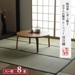 純国産 い草 上敷き お手入れ簡単 カーペット 汚れに強い 双目織 六一間8畳(約370×370cm)