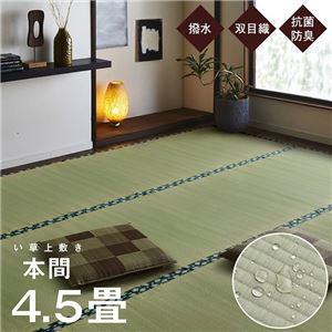 純国産 い草 上敷き はっ水 カーペット 双目織 本間4.5畳 (約286×286cm) - 拡大画像