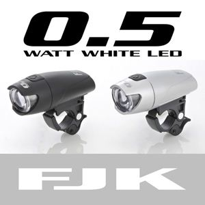 LEDサイクルライト(0.5Wタイプ) FJK-180SI / シルバー - 拡大画像