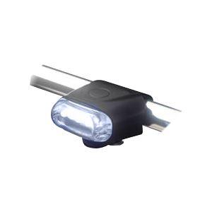 国内メーカー高輝度LED使用 5LEDシリコンサイクルライト(ヘッド) FJK-267F-5 WH / ホワイト - 拡大画像