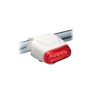 国内メーカー高輝度LED使用 5LEDシリコンサイクルライト(テール) FJK-267T-5 WH / ホワイト - 拡大画像