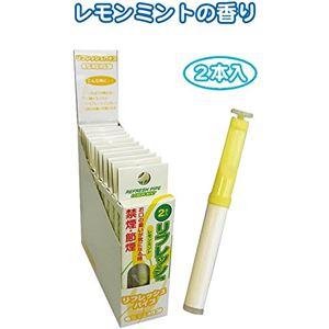 禁煙パイプ 増量リフレッシュパイプ2本入(レモンミント) 【12個セット】 29-311 - 拡大画像