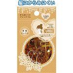 からみにくい!アレンジゴム(茶系ミックス)100本入 【12個セット】 18-903