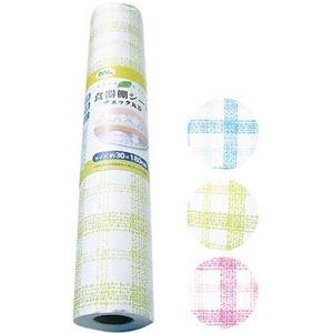食器棚シート チェック丸巻(30×180cm) 【12個セット】 30-386