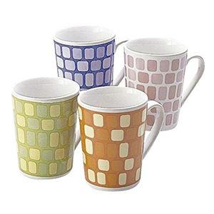モザイクマグカップ(陶器)【12個セット】1076