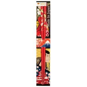 田中箸店 日本デザイン箸 折鶴 朱 22.5? 068121