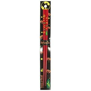 日本製 Japan 若狭 田中箸店 ハロウィン箸 レッド 22.5cm 065526