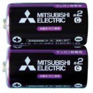 三菱 黒マンガン乾電池単2(2本入)R14PUE/2S 36-357 【10個セット】 - 拡大画像