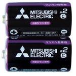 三菱 黒マンガン乾電池単2(2本入)R14PUE/2S 36-357 【10個セット】