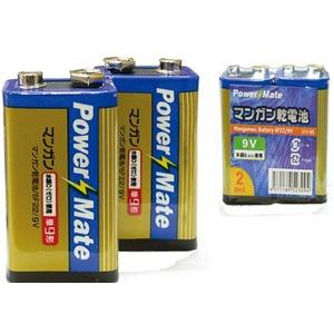 パワーメイト マンガン電池9V形(2P)【10個セット】 273-05 - 拡大画像