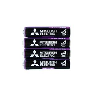 三菱 黒マンガン乾電池単4(4本入)R03UE/4S 36-359 【10個セット】 - 拡大画像