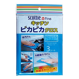 日本製紙 Scottieキッチンピカピカクロス3枚入 39-348 【30個セット】