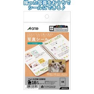 日本製 made in japan A-one写真シール16片Large39×29mm80751 32-981 【10個セット】の写真