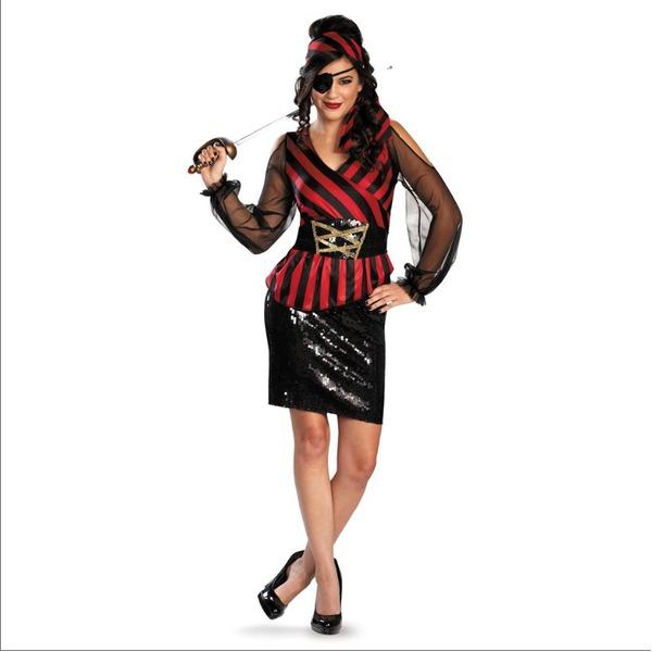 カワイイハロウィン 仮装屋 通販 海賊の衣装『ディズニー DISNEY パイレーツ・オブ・カリビアン スパンコール セクシー系女海賊 コスチューム 70697M』